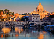 Mediterranean Landscape Prints - Saint Peters Basilica Print by Inge Johnsson