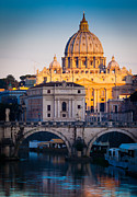 Roman Streets Prints - Saint Peters Dawn Print by Inge Johnsson