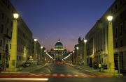 Street Lights Prints - Saint Peters Square At Vatican City Print by Richard Nowitz