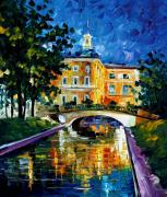 Canal Street Paintings - saint petersburg  Russia by Leonid Afremov