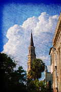 Facades Posters - Saint Philip Church in Charleston SC Poster by Susanne Van Hulst