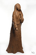 Portraits Sculpture Acrylic Prints - Saint Rose Philippine Duchesne Acrylic Print by Adam Long