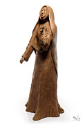 Tree Art Sculpture Posters - Saint Rose Philippine Duchesne sculpture Poster by Adam Long