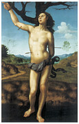 St Sebastian Framed Prints - Saint Sebastian Framed Print by Guiliano Bugiardini