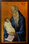 Orthodox Paintings - Saint Stelian patron of children by Iconos Art