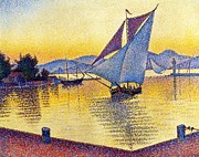 Tropez Paintings - Saint Tropez at Sunset by Pg Reproductions