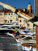 St.tropez Framed Prints - Saint Tropez Harbor Framed Print by Lainie Wrightson