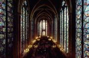 Stained Glass Windows Framed Prints - Sainte-chapelle Interior Showing Framed Print by James L. Stanfield