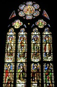 Stained Glass Windows Prints - Saints Print by Chris  Brewington Photography LLC