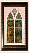 Saint Luke Framed Prints - Saints in the Window Framed Print by DigiArt Diaries by Vicky Browning