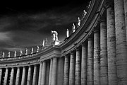 Bernini Photos - Saints Over Saint Peters Square by Darren Burroughs