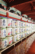 Shopper Prints - Sake Barrel Display Print by Jeremy Woodhouse