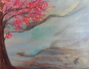 Sakura Painting Originals - Sakura by Patti Spires Hamilton