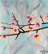 Cherry Blossoms Painting Originals - Sakura by Yael Eylat-Tanaka