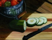 Salad Painting Framed Prints - Salad Makings Framed Print by Diana Weems