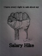 Hike Drawings - Salary Hike by Santosh Ch