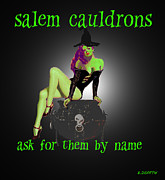 Cauldrons Framed Prints - Salem Cauldrons Add Framed Print by Brian Dearth