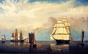 Sailing Ships Prints - Salem Harbor Print by Pg Reproductions