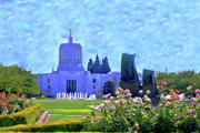 Salem Oregon State Capital Print by Margaret Hood