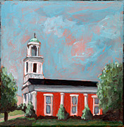 Brick Paintings - Salem Presbyterian Church by Todd Bandy