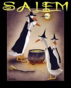 Halloween Mixed Media Prints - Salem... Print by Will Bullas