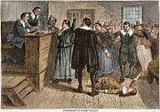 Trial Framed Prints - Salem Witch Trials, 1692 Framed Print by Granger