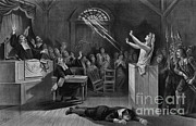 Black Arts Posters - Salem Witch Trials Poster by Photo Researchers