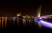Bbc Prints - Salford Quays Print by Wayne Molyneux