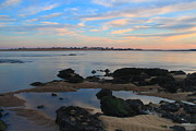 Salisbury Photos - Salisbury Beach and Newburyport Sunset by John Burk