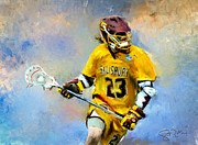 Scott Melby Framed Prints - Salisbury Lacrosse Framed Print by Scott Melby