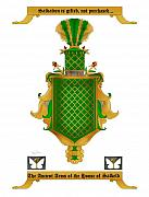 Family Coat Of Arms Art - Salkeld Family Crest by Anne Norskog