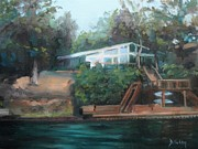 Shores Paintings - Sallys Hideaway by Donna Tuten