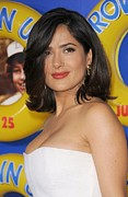 2010s Hairstyles Framed Prints - Salma Hayek At Arrivals For Grown Ups Framed Print by Everett