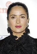 Diamond Earrings Posters - Salma Hayek At Arrivals For Sir Richard Poster by Everett