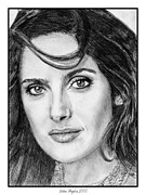Greyscale Drawings - Salma Hayek in 2005 by J McCombie