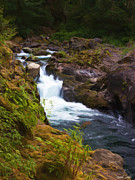Sol Prints - Salmon Cascades Print by Heidi Smith