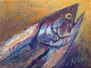 Fish Digital Art Originals - Salmon Close-Up by Nanci Cook