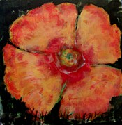 California Poppy Paintings - Salmon Poppy 1 by Cj Carroll