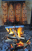 Salmon Photos - Salmon smoked over wood by Matthias Hauser
