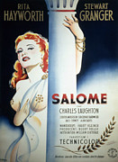 1950s Portraits Posters - Salome, Rita Hayworth, 1953 German Poster by Everett