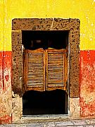 San Miguel De Allende Framed Prints - Saloon Door 1 Framed Print by Olden Mexico