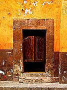 San Miguel De Allende Framed Prints - Saloon Door 5 Framed Print by Olden Mexico