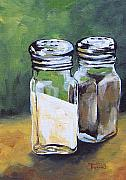 Pepper Painting Metal Prints - Salt and Pepper I Metal Print by Torrie Smiley