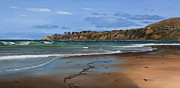 Dana Framed Prints - Salt Creek Beach  Dana Point Painting Framed Print by Cliff Wassmann