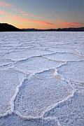 Dry Lake Photos - Salt formations at Badwater in Death valley by Pierre Leclerc