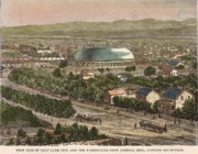 Salt Lake Painting Prints - Salt Lake City and the Tabernacle from Arsenal Hill. Utah. 1891 Print by Unknown