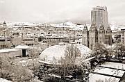 Tabernacle Framed Prints - Salt Lake City Landmarks Framed Print by Marilyn Hunt