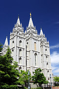 Temple Square Framed Prints - Salt Lake Mormon Temple Framed Print by Charline Xia