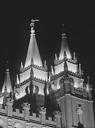 Temple Square Framed Prints - Salt Lake Temple Night Framed Print by Troy Montemayor