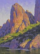 Western Usa Painting Posters - Salt River Sentinel Poster by Cody DeLong